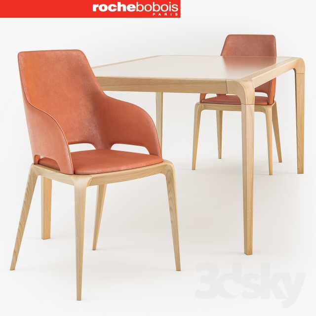Roche Bobois Brio Dining Table Bridge Chair