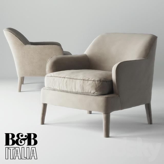 3d models arm chair armchair maxalto b b italia febo