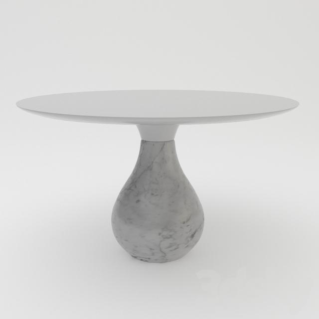 roche bobois aqua round pedestal table