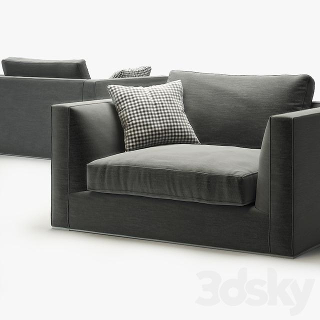 3d models arm chair armchair b b italia richard