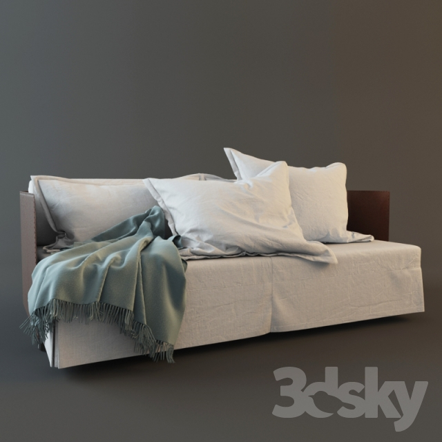 3d models sofa sofa bed eden flexform. Black Bedroom Furniture Sets. Home Design Ideas