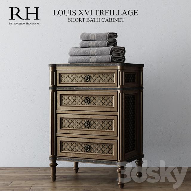 Restoration Hardware Louis Xvi Dresser: 3d Models: Bathroom Furniture