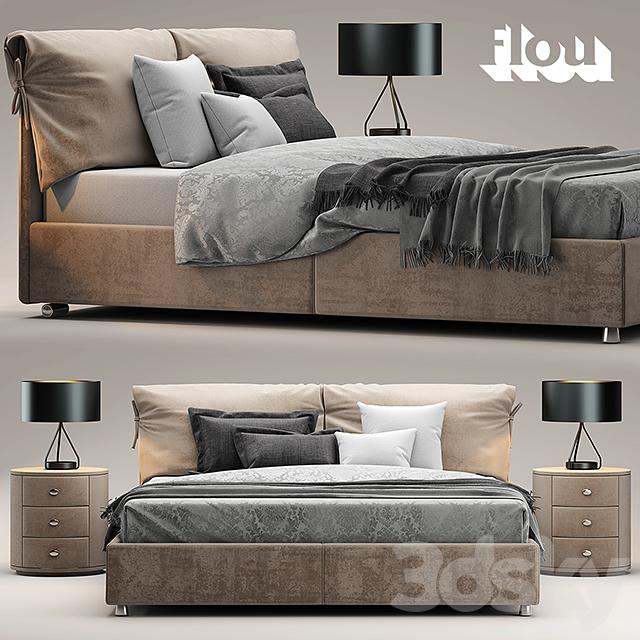 3d models: Bed - Bed flou Letto Nathalie