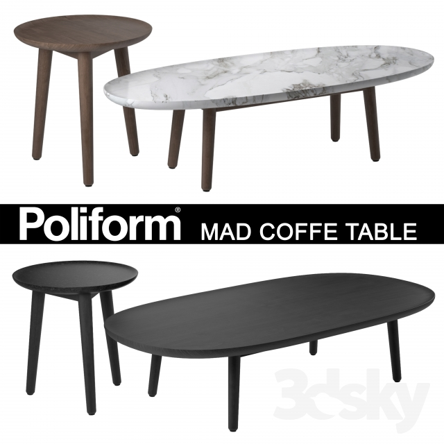 3d Models Table Poliform Mad Coffe Table