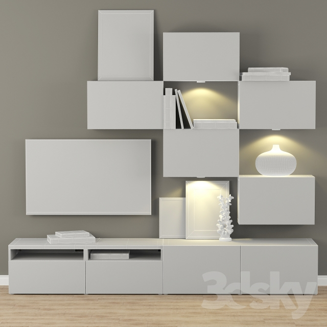 Wunderbar 3d Models: Other Cabinet For TV And Multimedia Ikea BESTO / Besta