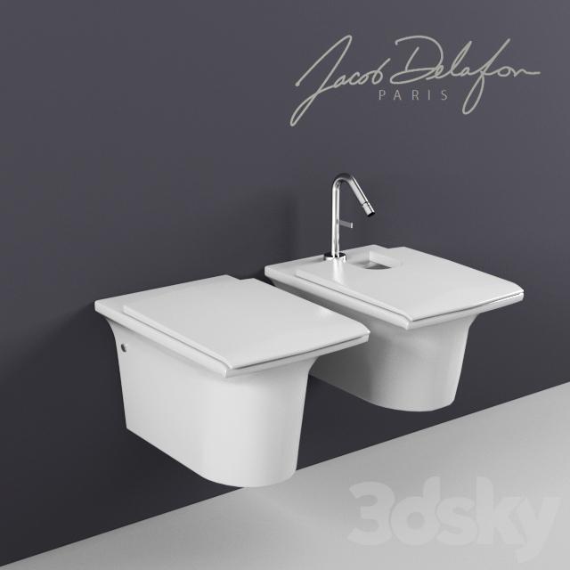 3d models toilet and bidet jacob delafon stillnes wall hung wc and bidet e1303 e1304. Black Bedroom Furniture Sets. Home Design Ideas