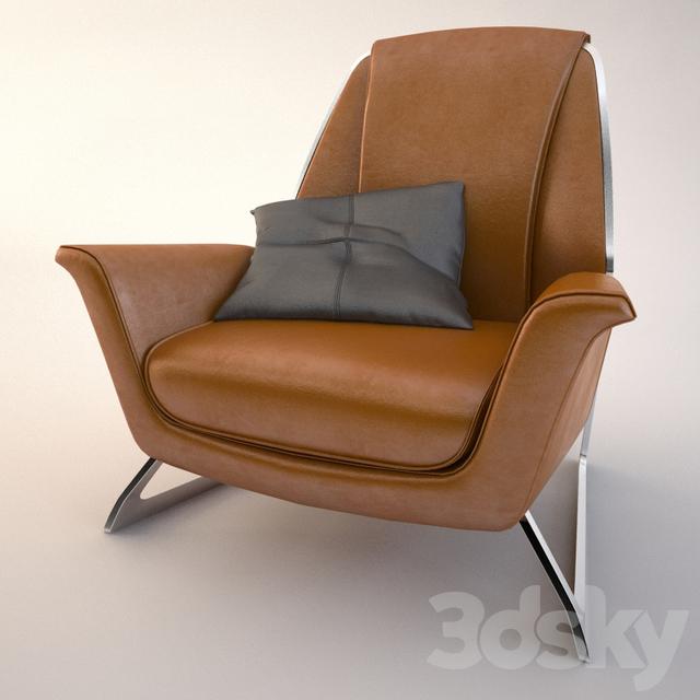 3d Models Arm Chair Armchair Luft Poltrona Frau