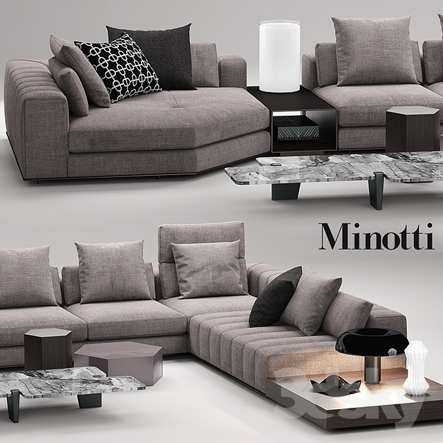 3d models sofa minotti freeman seating system