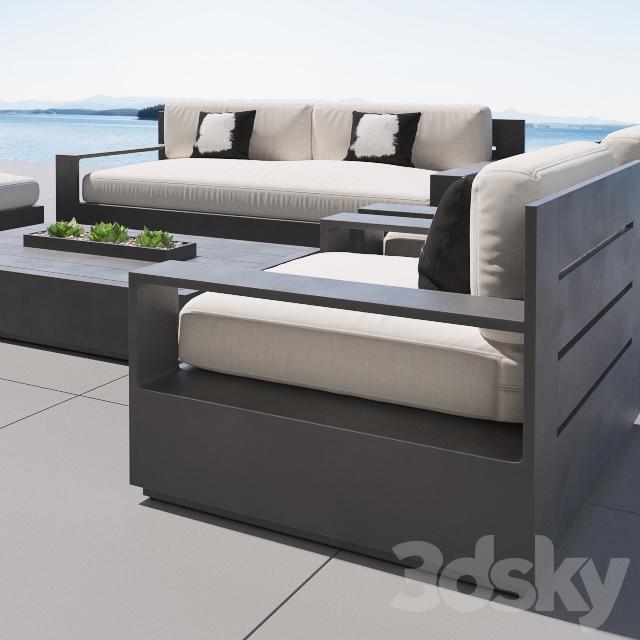 3d models sofa rh marbella aluminum - Sofas en marbella ...