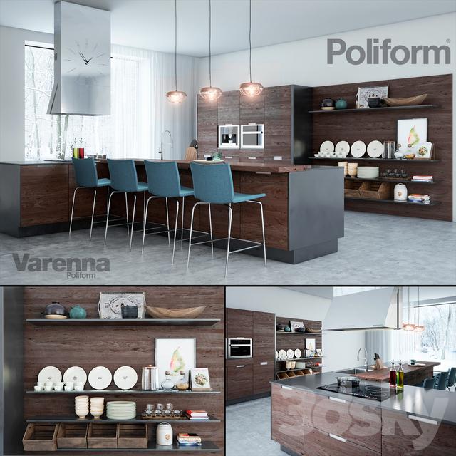 3d models kitchen poliform varenna kitchen for Poliform kuchen