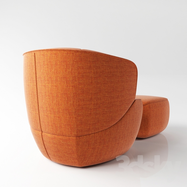 3d Models Arm Chair Chair Rolf Benz 384