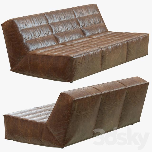 Restoration Hardware Chelsea Leather Sofa