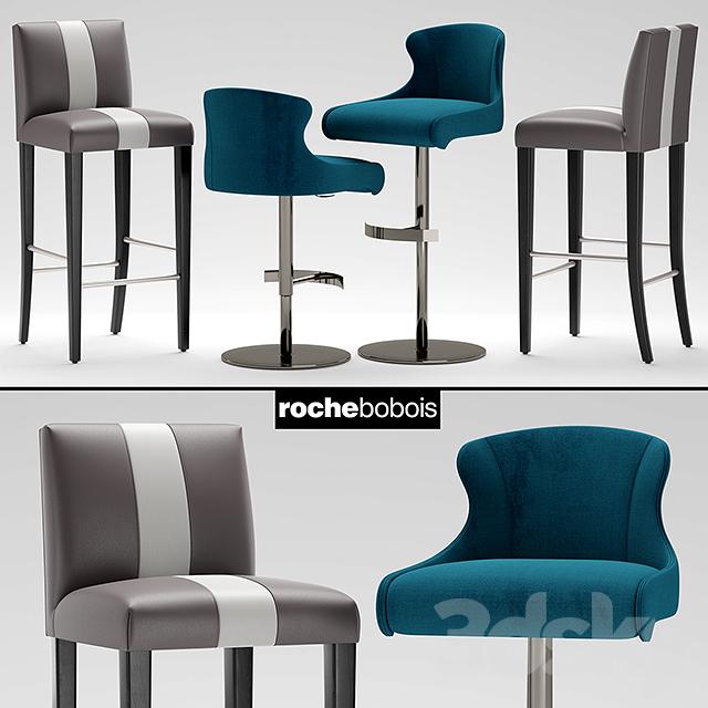 3d models chair chairs roche bobois tabouret carioca for Bar roche bobois