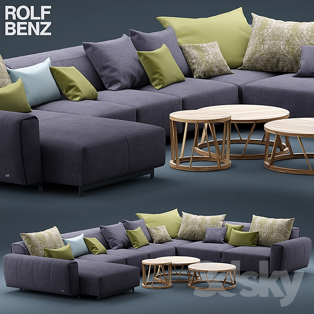 3d models sofa sofa rolf benz teno. Black Bedroom Furniture Sets. Home Design Ideas
