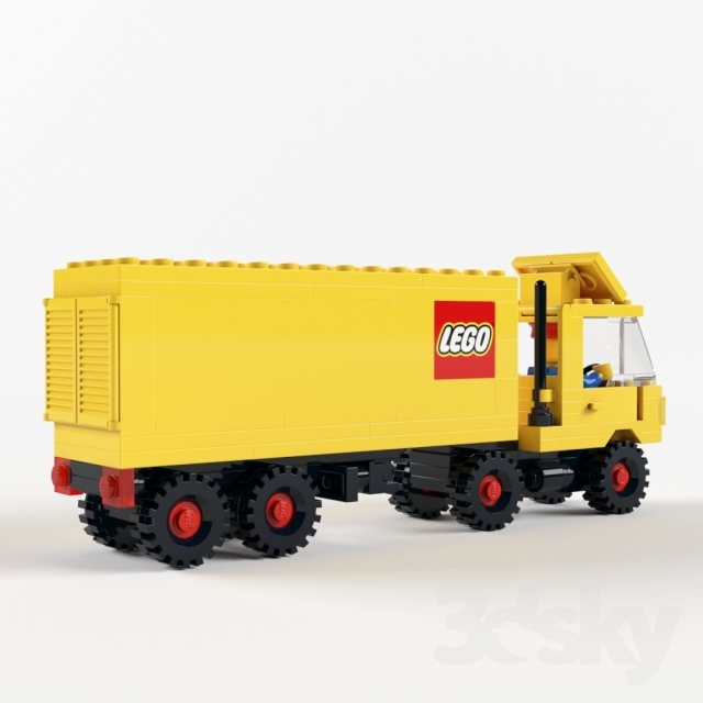 how to build a lego tractor trailer