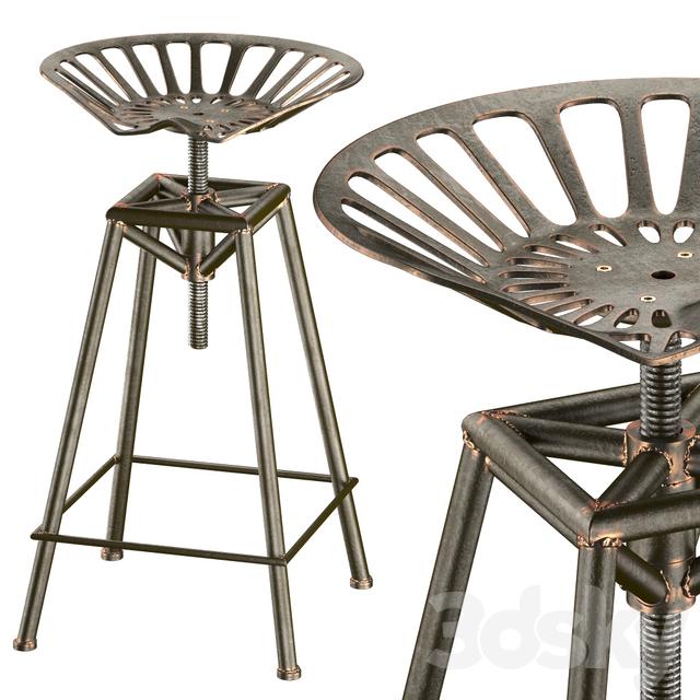 3d Models Chair Charlie Industrial Metal Design Stool