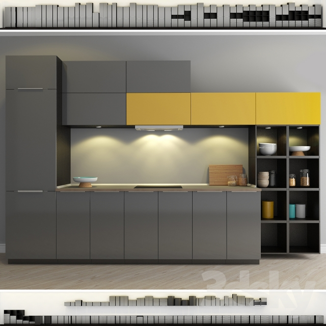 3d models Kitchen  Kitchen IKEA Method Ringult (Ringhult)