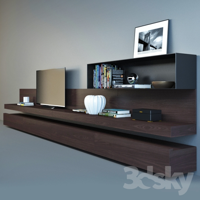 3d models other poliform sintesi tv wall. Black Bedroom Furniture Sets. Home Design Ideas