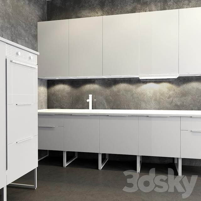 3d models kitchen kitchen ikea method brokhult brokhult. Black Bedroom Furniture Sets. Home Design Ideas