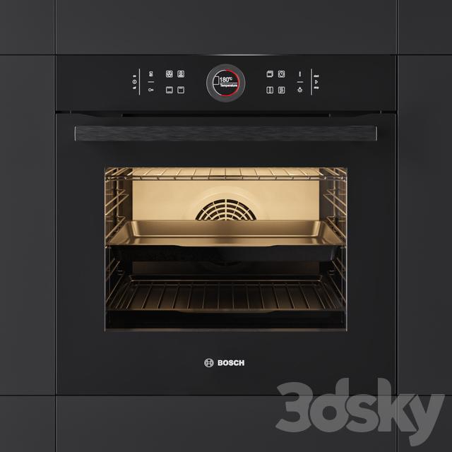 3d models: Kitchen appliance - Oven BOSCH HBG634BB1