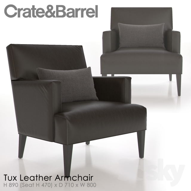 crate and barrel tux leather armchair - Crate And Barrel Leather Chair