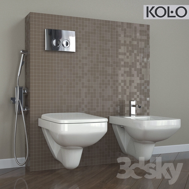 3d models toilet and bidet wc suspended nova pro. Black Bedroom Furniture Sets. Home Design Ideas