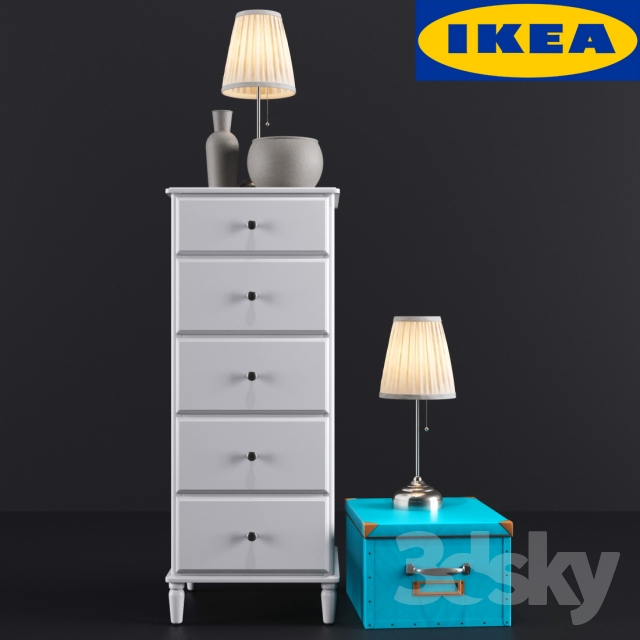 3d models sideboard chest of drawer ikea tyssedal for Mobili ikea 3d