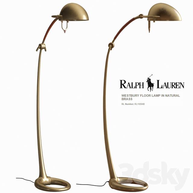 3d models floor lamp ralph lauren westbury floor lamp for Ralph lauren floor lamp brass
