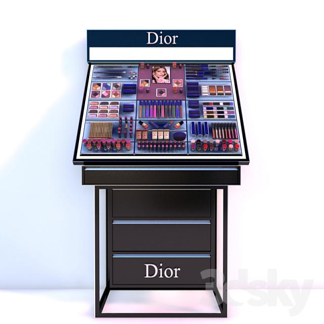 Super 3d models: Shop - Stand maquillage Dior VR79