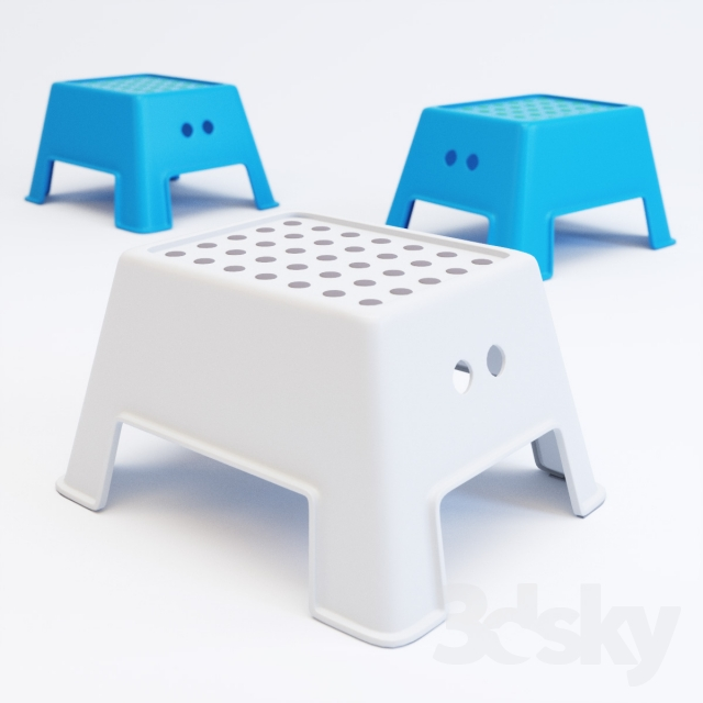 3d Models Other Ikea Bolmen Step Stool
