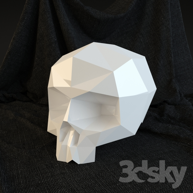 3d Models Toy Skull And Evilboy Low Poly