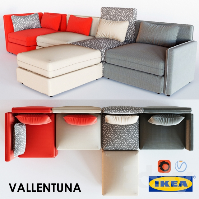 3d models sofa vallentuna series. Black Bedroom Furniture Sets. Home Design Ideas