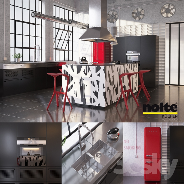 Kitchen Nolte Neo Equipment And Industrial Attributes (vray, Corona)