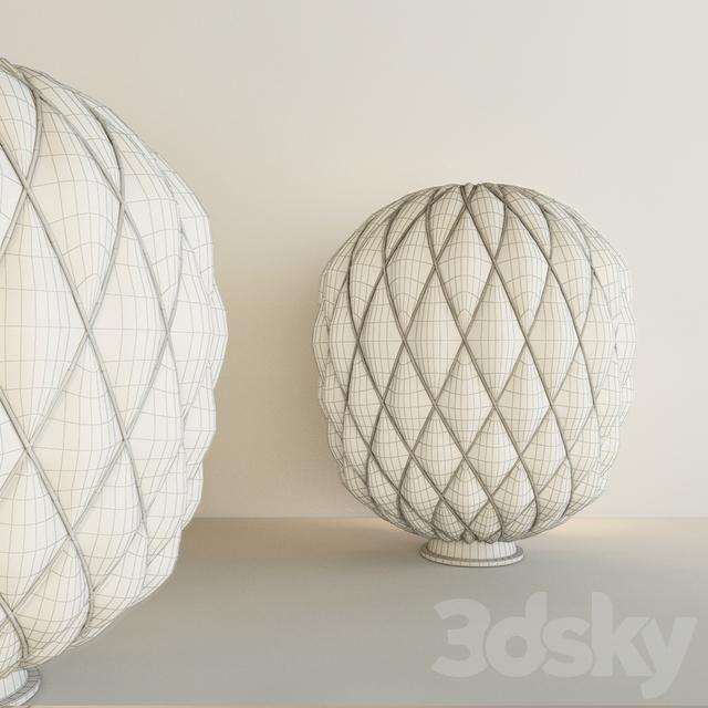 3d models table lamp fontana arte pinecone table for Pinecone fontana