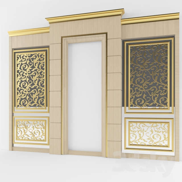3d models: Other decorative objects - classic wall decoration