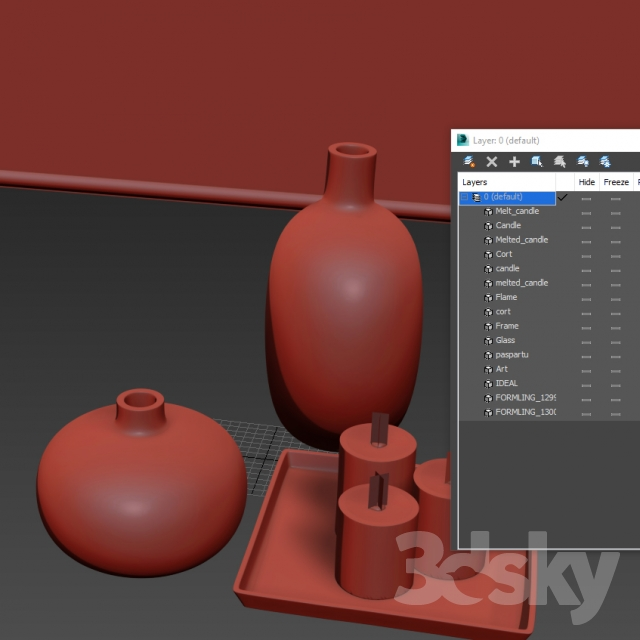 3d models decorative set ikea formlig decor set. Black Bedroom Furniture Sets. Home Design Ideas