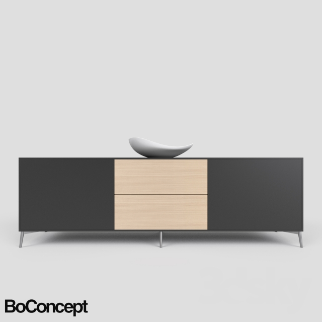 3d Models Sideboard Chest Of Drawer Boconcept Sideboard