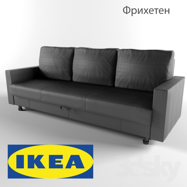 3d Models Sofa Friheten Sofa Bed Ikea