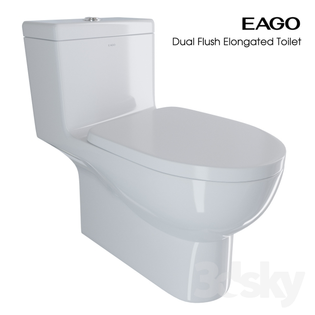 3d models toilet and bidet eago dual flush elongated toilet