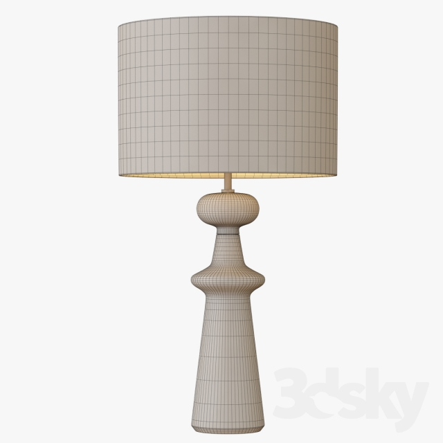 3d models table lamp turned wood table lamp tall. Black Bedroom Furniture Sets. Home Design Ideas