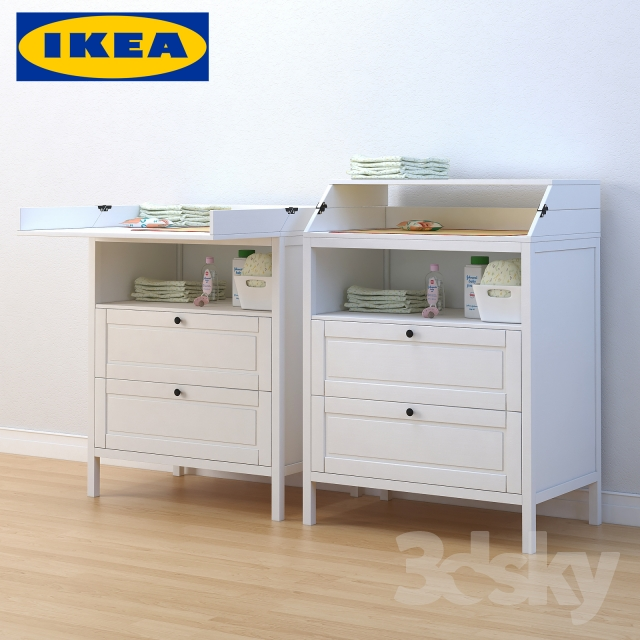 3d models miscellaneous ikea sundvik changing table. Black Bedroom Furniture Sets. Home Design Ideas