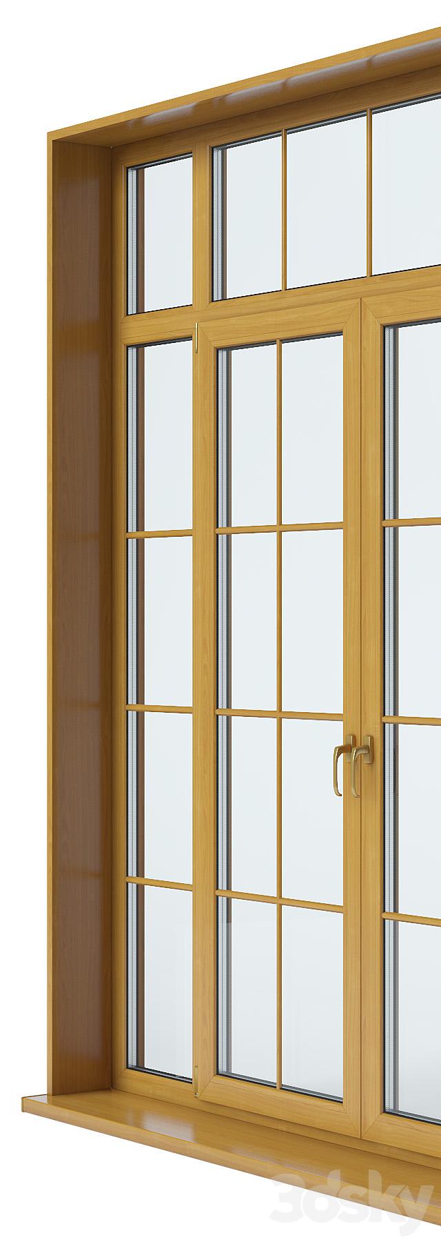 3d models doors french door for Three door french doors