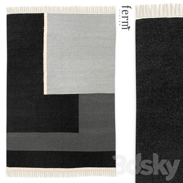 3d models rug rug ferm living kelim rug. Black Bedroom Furniture Sets. Home Design Ideas