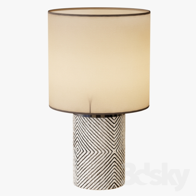 3d models table lamp etched glass table lamp. Black Bedroom Furniture Sets. Home Design Ideas