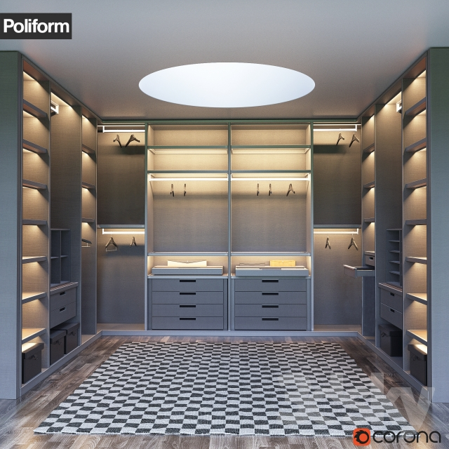 Beautiful SENZAFINE Walk In Closet From Poliform