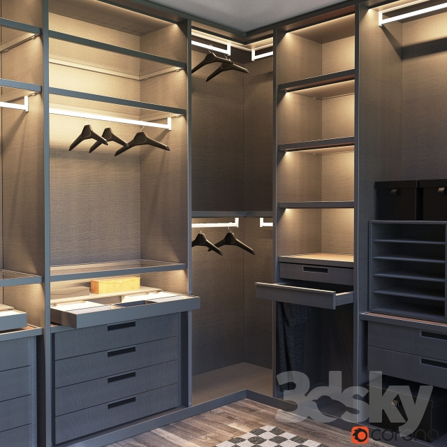 3d Models: Wardrobe U0026 Display Cabinets   SENZAFINE Walk In Closet From  Poliform