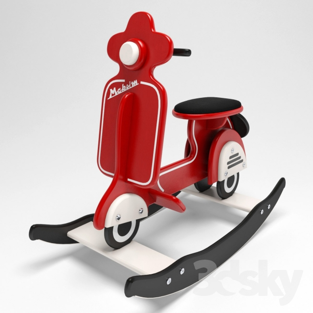 3d Models Toy Scooter Rocking