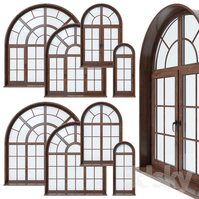 3d models windows arched window for Curved windows