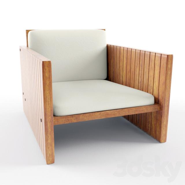 3d Models Arm Chair Wood Balcony Chair