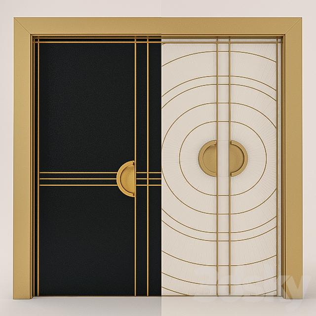 Superb 3d Models: Doors   Art Deco Doors